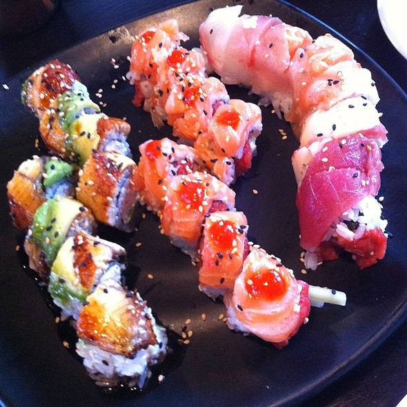 Caterpillar Roll, Sunkissed Roll, And Spicy Rainbow Roll