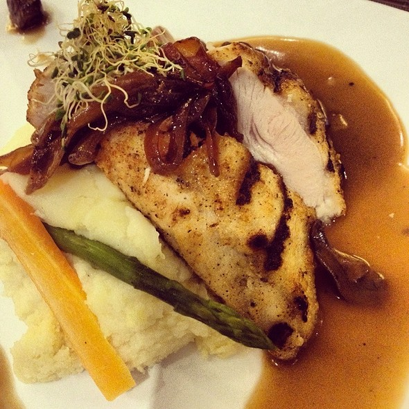 Organic Roasted Chicken With Marsala Sauce  @ Tito Chef Restaurant and All Things Culinary