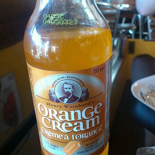Orange cream drink @ Belgian Fries