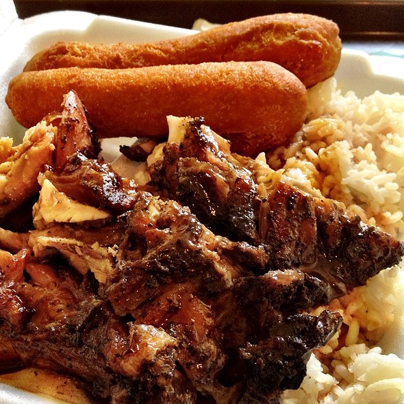Jerk Chicken Combo @ The Hummingbird Restaurant