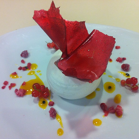 Red Currant Pavlova - Wolfgang Puck at Hotel Bel-Air, Los Angeles, CA
