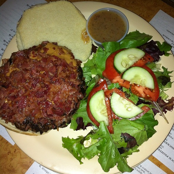 Peanut Butter and Bacon Burger @ Yo Mama's Bar and Grill