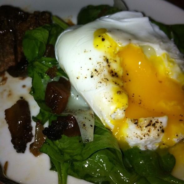 Spinach Salad With Pork Cheek - Nick & Toni's Cafe Manhattan, New York, NY