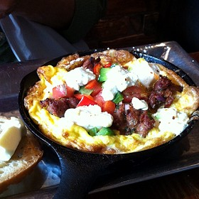 Lamb Omelette - Café 21 - University Heights, San Diego, CA