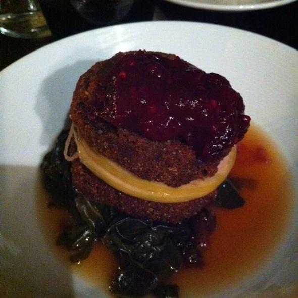 Pork Croquettes W Pickled Radish And Collard Greens @ Casa Mono