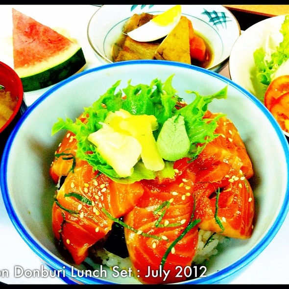 Salmon Donburi Special Lunch Set Of July