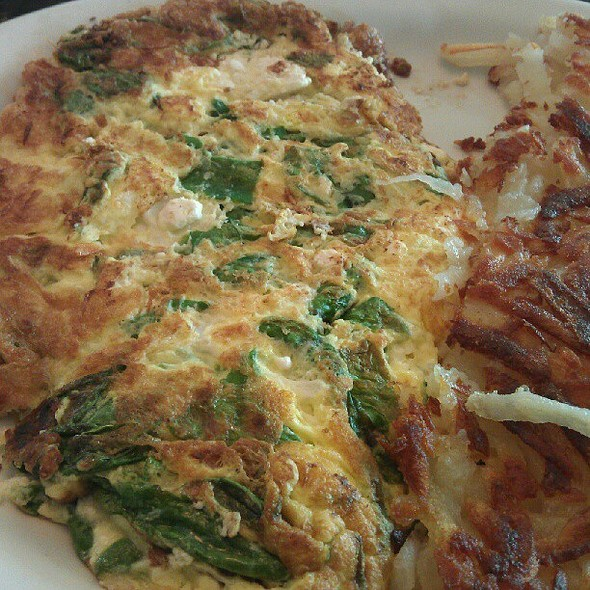 Spinach and Feta Omelette @ Parkview Diner