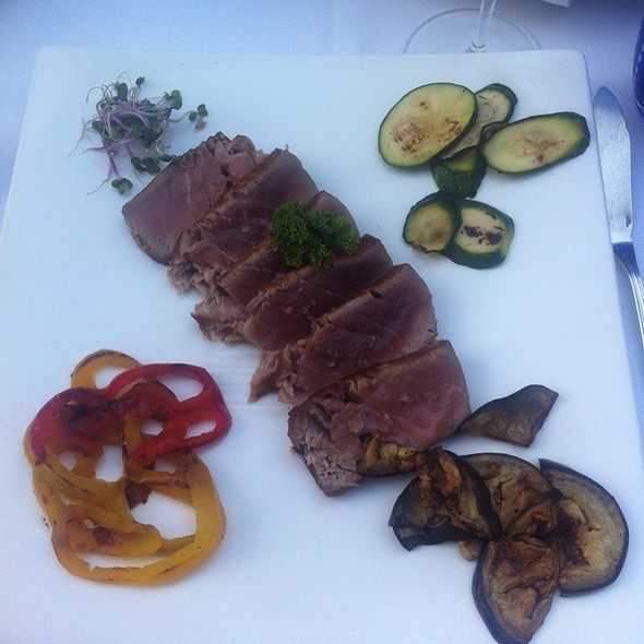 Tuna Steak With Grilled Vegetables @ all'Androna