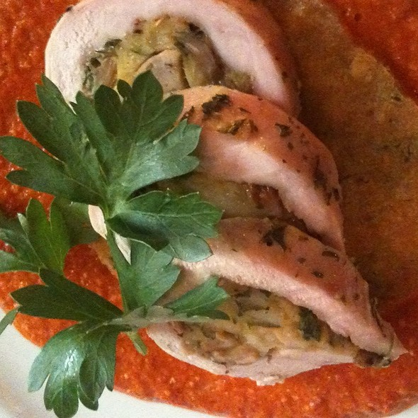Manchego & Porcini Stuffed Pheasant Breast @ Cafe Margaux Restaurant
