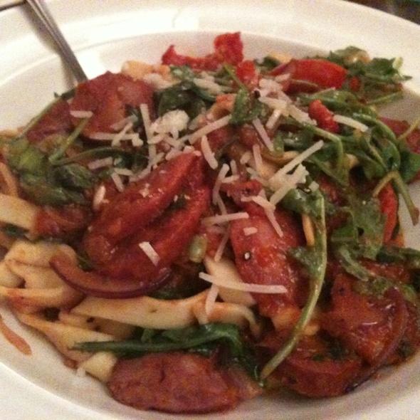 Spicy Chorizo Sausage & Roasted Tomato Fettuccine @ Chachi's Italian Restaurant