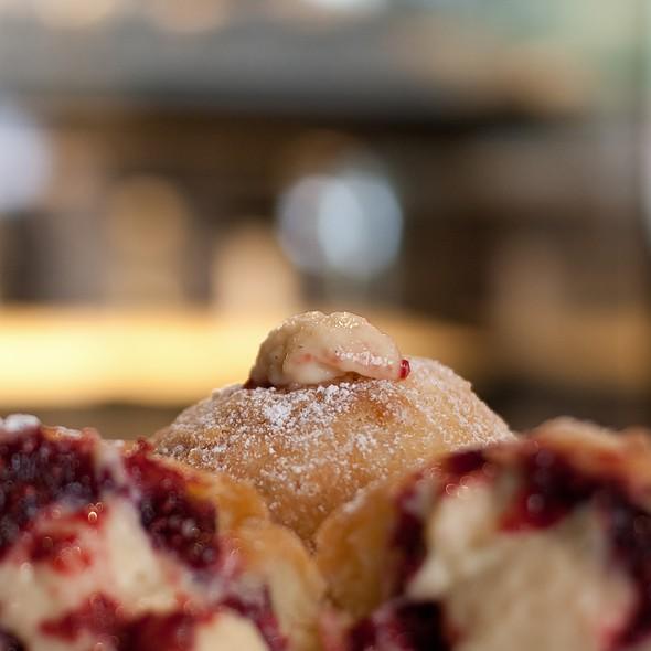 Raspberry & Vanilla Custard Donut @ Flour & Stone