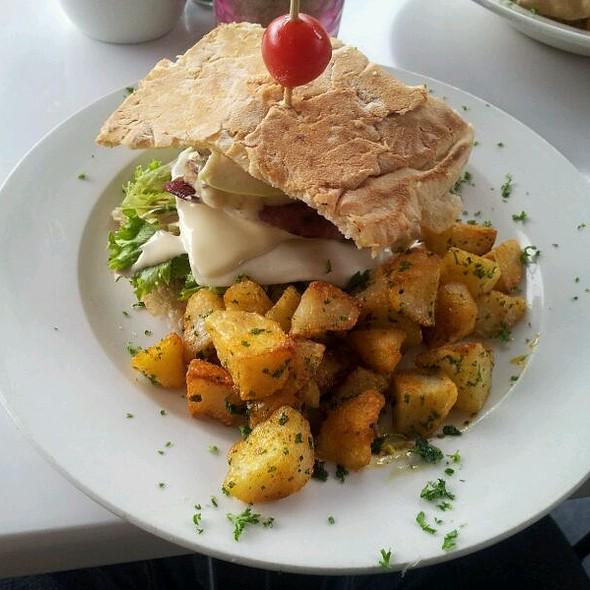 Ultimate Chicken And Bacon Club Sandwich  @ Lazari
