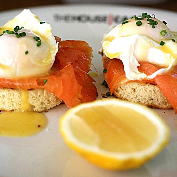 Eggs Royale with smoked salmon @ The House Cafe
