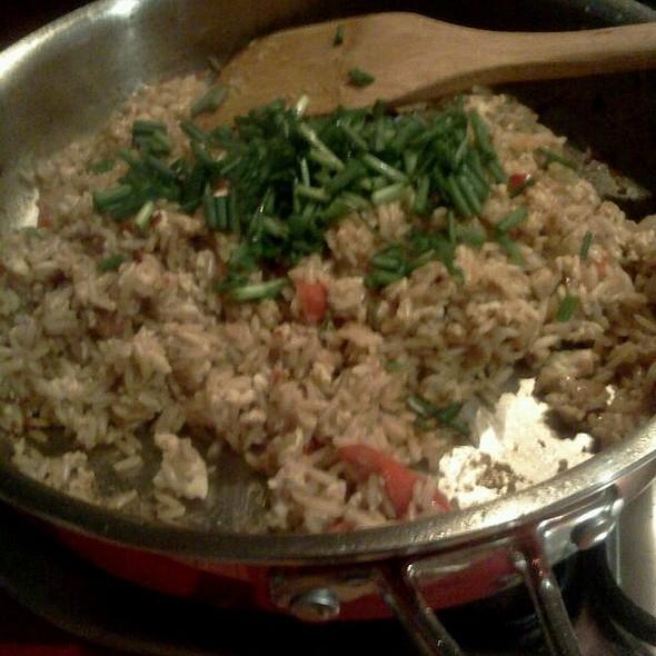 Chili Ginger Garlic Fried (brown) Rice @ Home