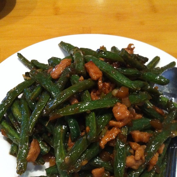 Green Beans With Minced Pork @ Genroku Japanese Restaurant