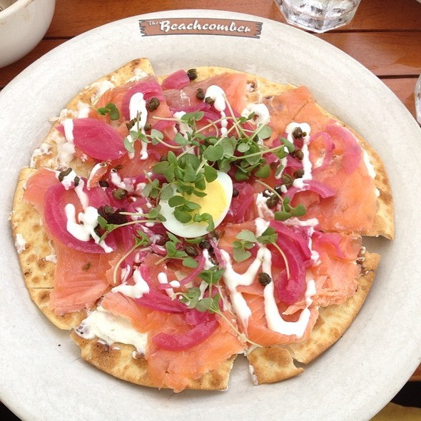 Smoked Salmon Flatbread - Beachcomber Cafe - Crystal Cove, Newport Coast, CA