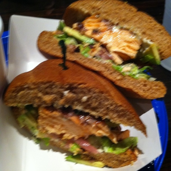 Teryaki Salmon Sandwitch @ Pacific Beach Fish Shop
