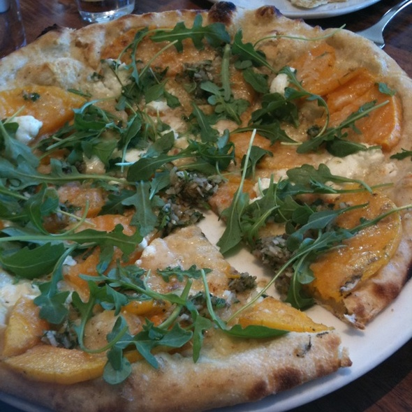 Goat Cheese and Pumpkin Pizza
