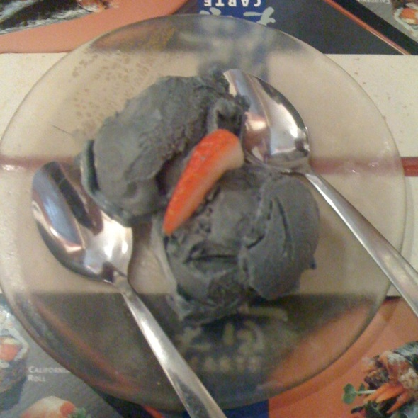 Black Sesame Ice Cream @ Mikado Japanese Restaurant