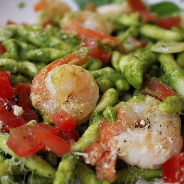 pesto pasta with shrimp @ Ciao Italian Restaurant