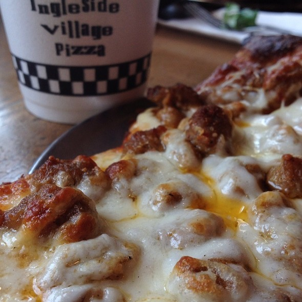 Sausage and Extra Cheese Pizza @ Ingleside Village Pizza