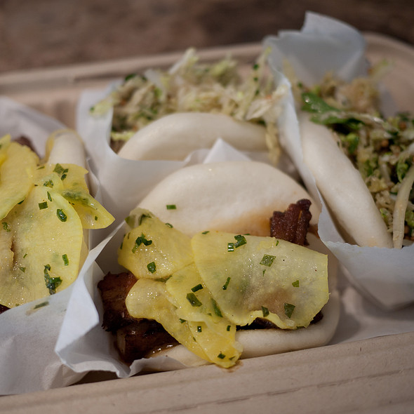 Steamed Bao With Pork Belly & Pickled Daikon @ Chairman Bao Truck