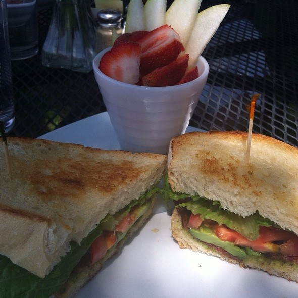 Blta Sandwich With Fruit @ One Street Down Cafe