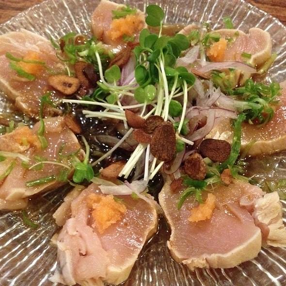 Shiromaguro tataki @ Gochi Japanese Fusion Tapas