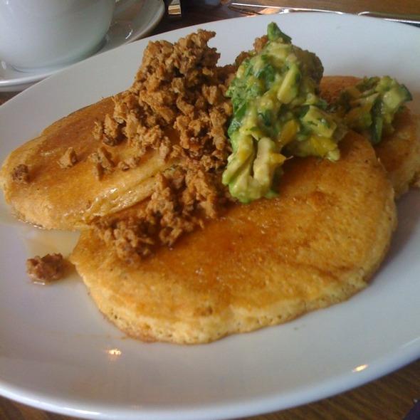 Vegan Maize Pancakes @ Plum Bistro