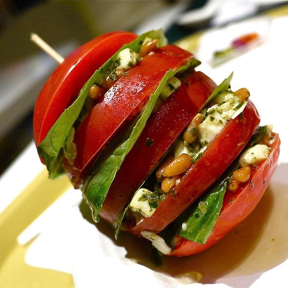 Tomato, Mozzarella and Basil Stack
