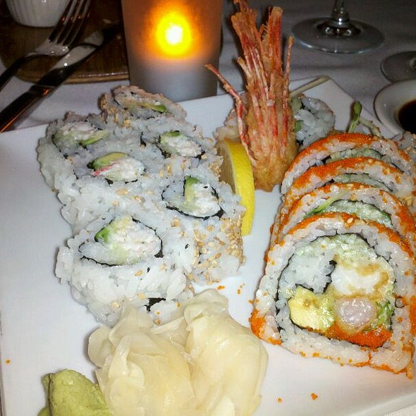 California And Shrimp Tempura Roll @ Chaya Venice