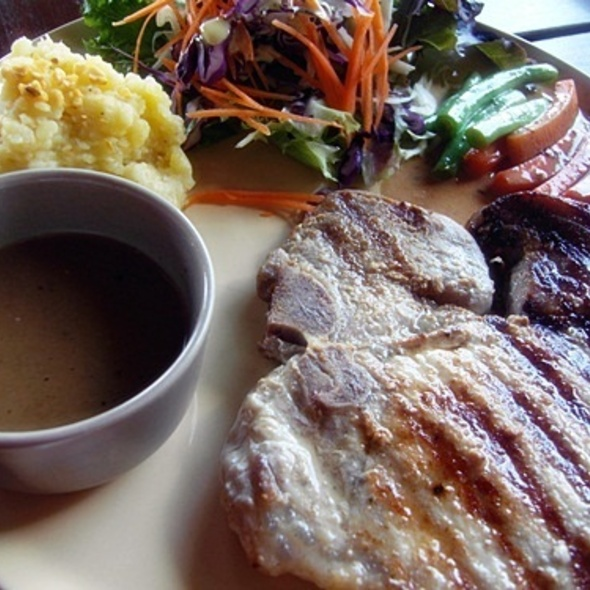 Pork Chop Steak with Gravy Sauce and Mashed Potato @ Isaree secret garden