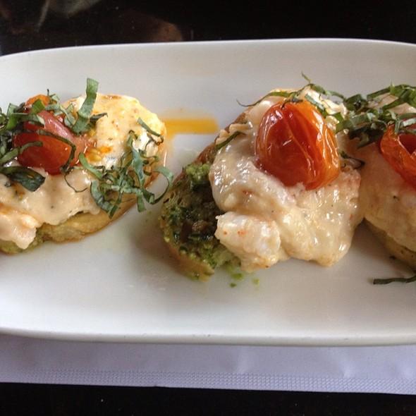 Warm Crab And Shrimp Bruschetta - Portland City Grill, Portland, OR