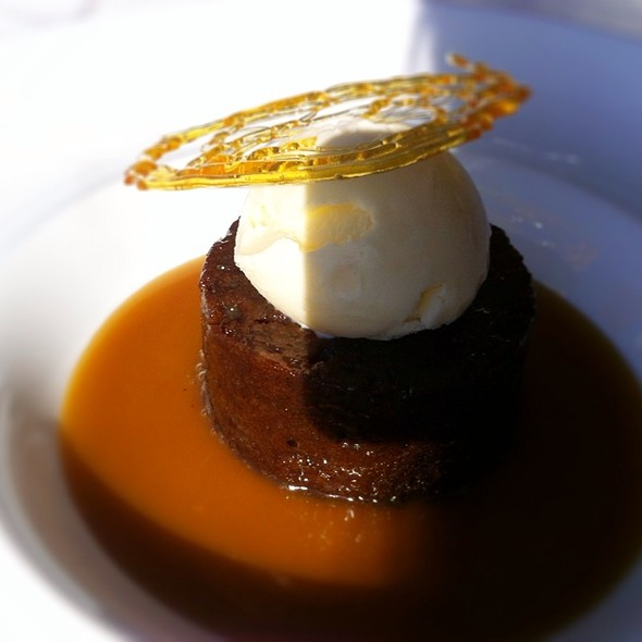 Warm Sticky Toffee Pudding with Rum Raisin Ice Cream at The Little ...