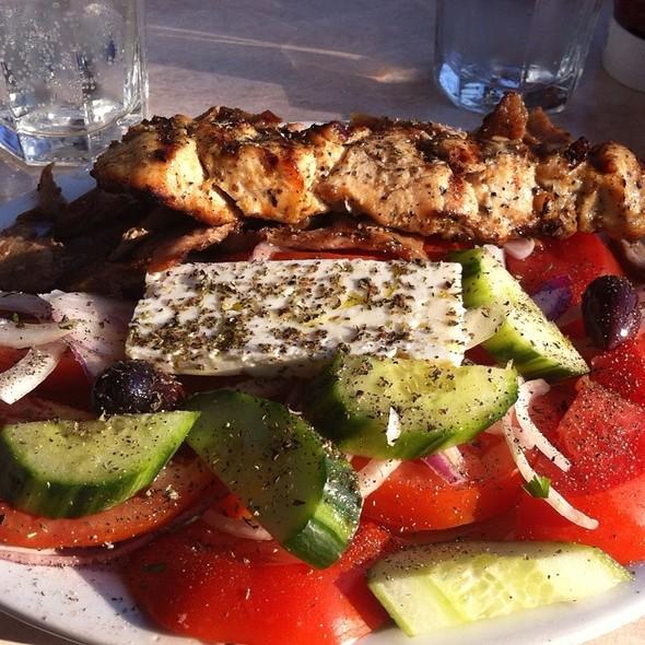 Doner And Chicken With Greek Salad @ Marathon Souvlaki