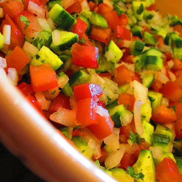 Salad Shirazi (Persian Salad) @ @Home