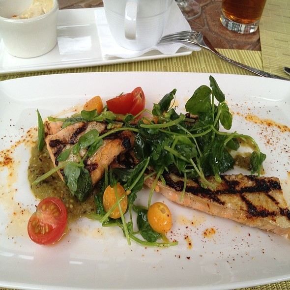 Grilled Salmon Belly - Atwater on Gore Creek, Vail, CO