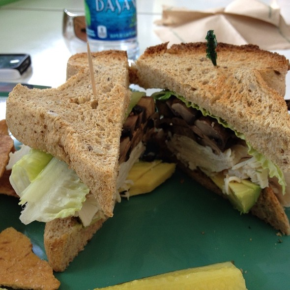 Turkey, Portabella, Avocado, And Swiss On Wheat Bread @ Midway Cafe