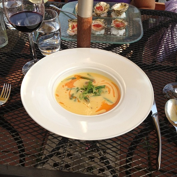 Sweet Corn Bisque - Bistro Blanc, Glenelg, MD