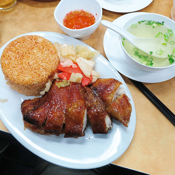 Crispy Skin Chicken With Tomato Rice @ Tan Viet Noodle House