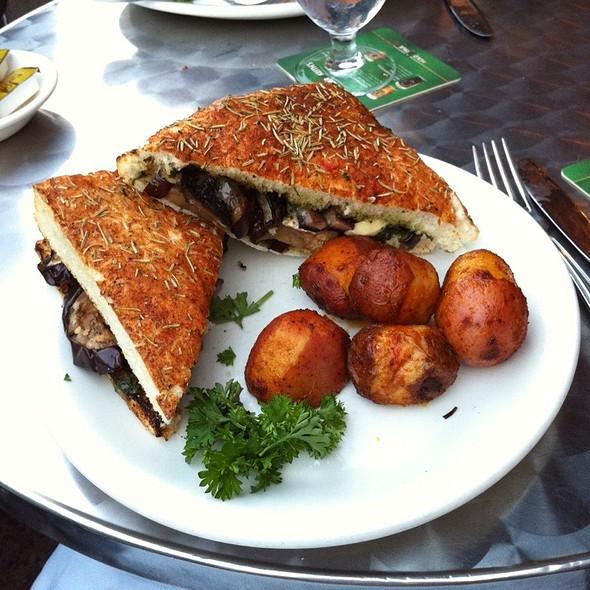Grilled Eggplant And Portobello Sandwich @ The Fireside