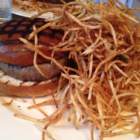 Chargrilled Burger with Roquefort Cheese & Shoestrings Fries @ The Spotted Pig