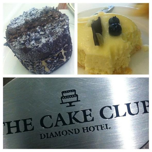 Super Moist Chocolate Cake & baked Cheesecake @ The Cake Club