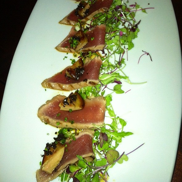 Image result for Foie Gras on Seared Tuna with White Truffle Oil koi