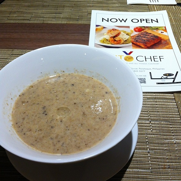 Truffled Mushroom Soup Puree @ Tito Chef Restaurant and All Things Culinary