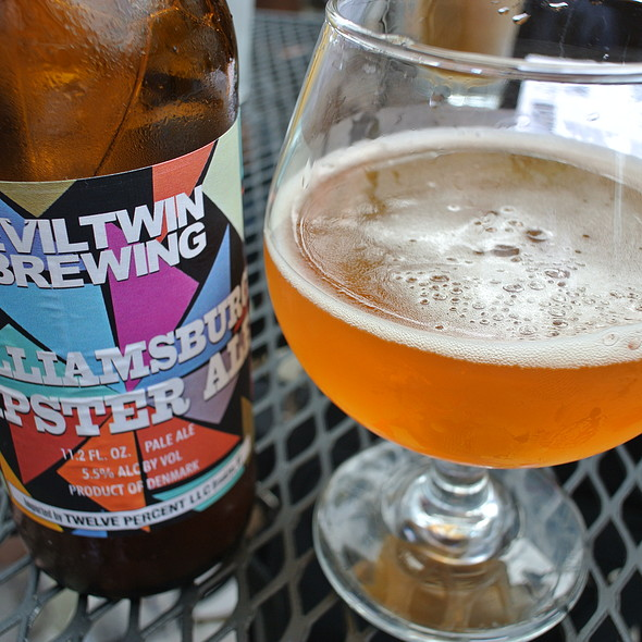 Evil Twin Williamsburg Hipster Pale Ale - Market Garden Brewery, Cleveland, OH