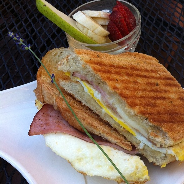 Breakfast Pannini On Rosemary Sourdough @ One Street Down Cafe