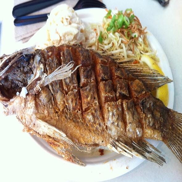 Whole Fried Fish @ Nalu's Island Grill