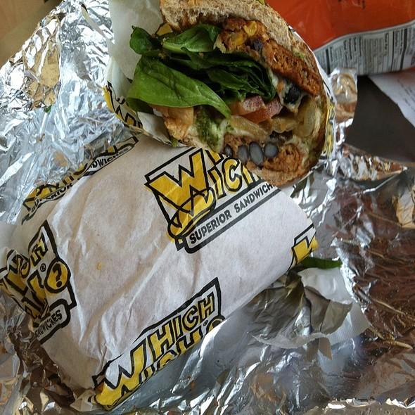Black Bean Patty Sandwich @ Which Wich 190 Burlingame
