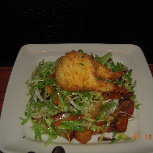 """Bacon and Egg"" salad, frisee, bacon lardons, fried shiitake mushrooms, yukon gold potatoes and crispy poached egg - Cin-Cin Wine Bar, Los Gatos, CA"